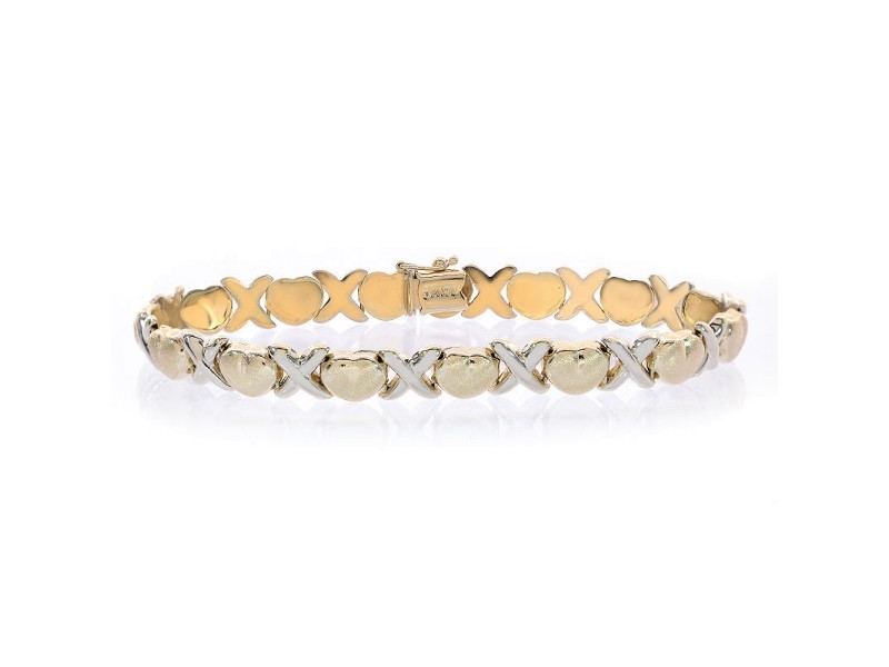 14K Yellow Gold & 14K White Gold  Bracelet