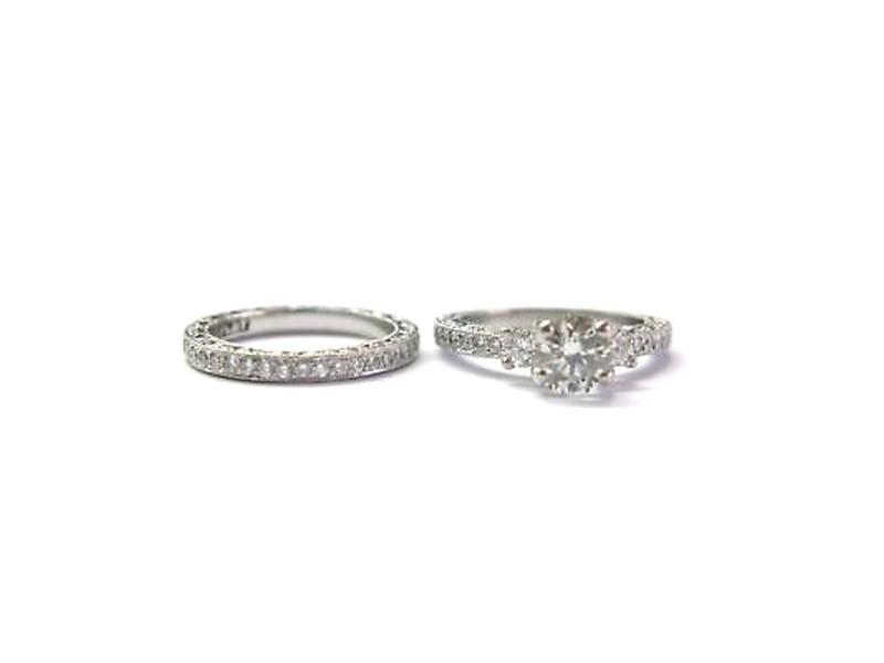 Tacori Platinum 2.87CT Diamond Engagement Wedding Set