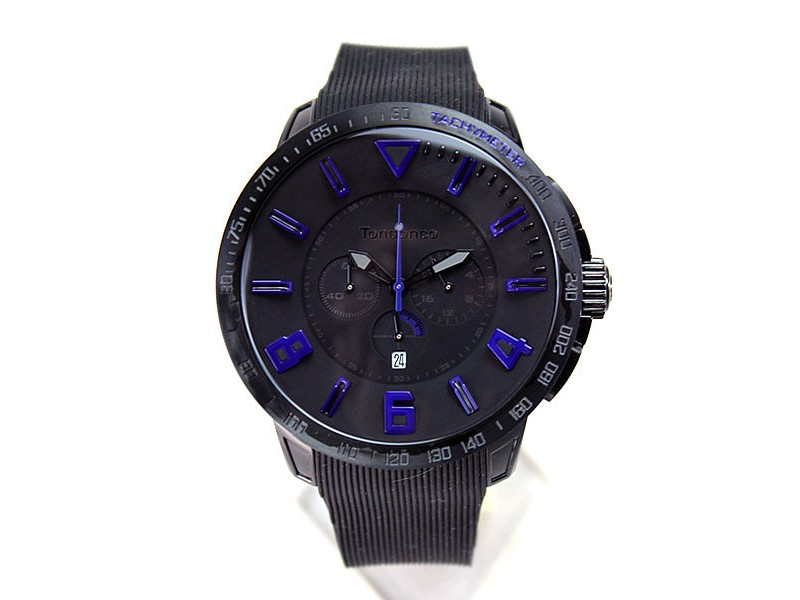 Tendence TT560004 Black Rubber Band Quartz Mens Watch