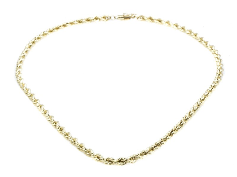 Tiffany & Co. 14K Yellow Gold Rope Necklace