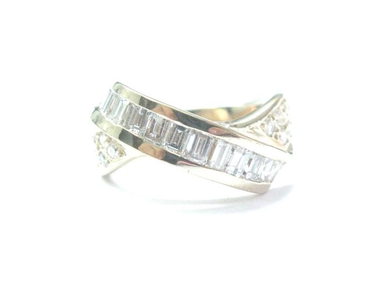 Yellow Gold Diamond  Bypass Ring