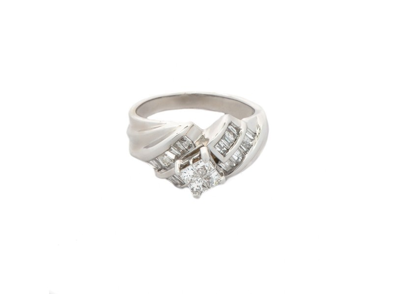 White White Gold Womens Engagement Ring Size 5
