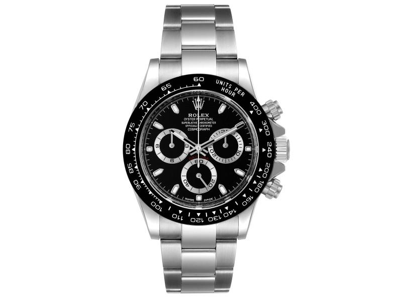 Rolex Cosmograph Daytona Ceramic Bezel Black Dial Watch Card