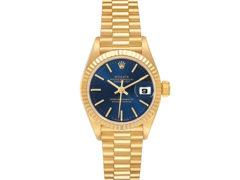 Rolex President Datejust 26 Yellow Gold Ladies Watch 69178