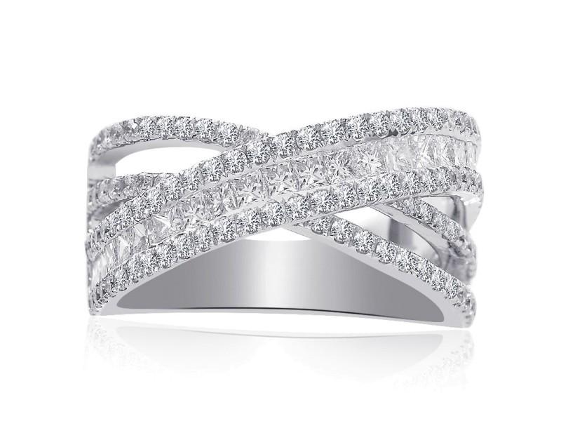 14K White Gold 2ct Diamond Ring Size 6.75