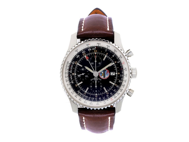 Breitling Navitimer A24322 Stainless Steel & Black Dial Automatic 48mm Mens Watch