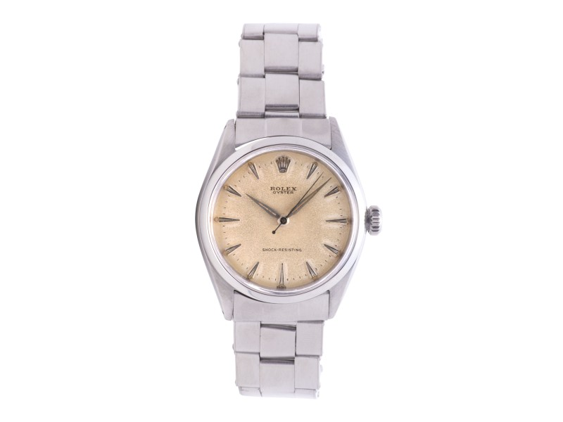 Rolex Oysterdate Precision 6480 Stainless Steel Vintage 33mm Unisex Watch