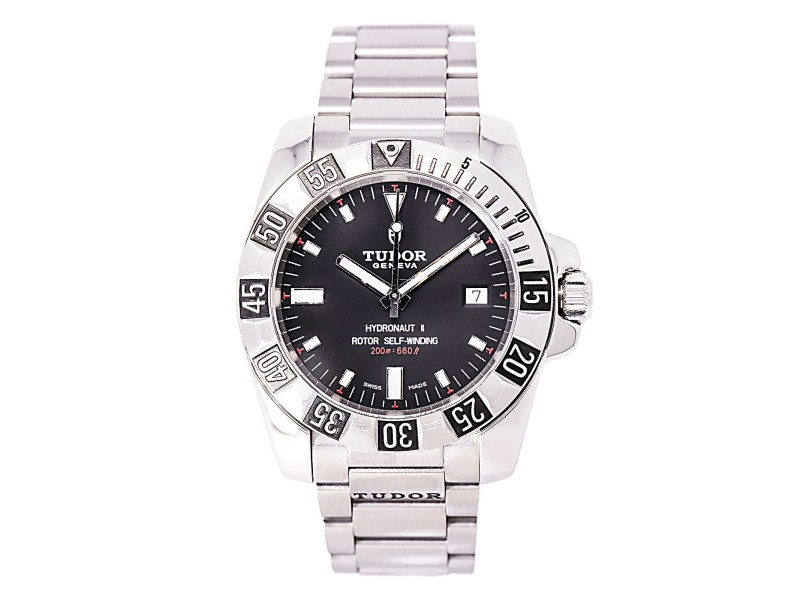 Tudor Hydronaut II 20040 Automatic Stainless Steel Black Dial 40mm Mens Watch