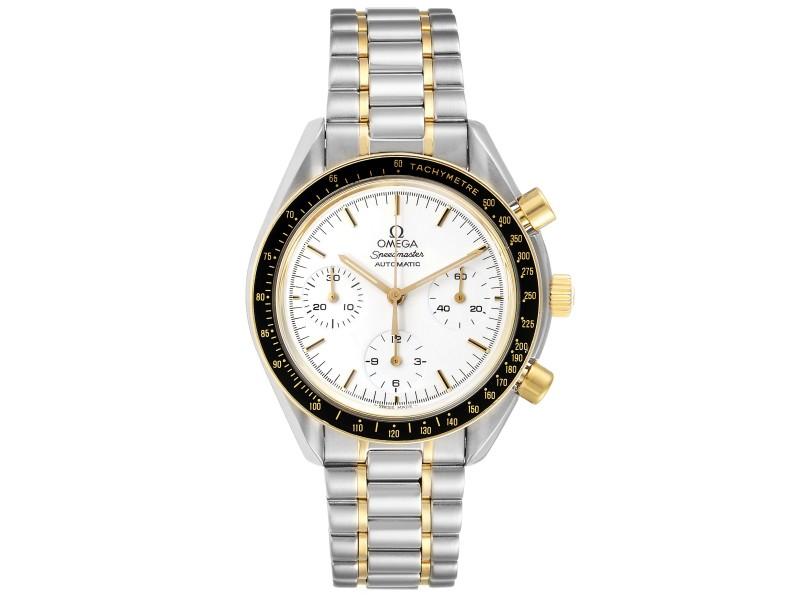 Omega Speedmaster Steel Yellow Gold Chronograph Mens Watch 3310.20.00 Card