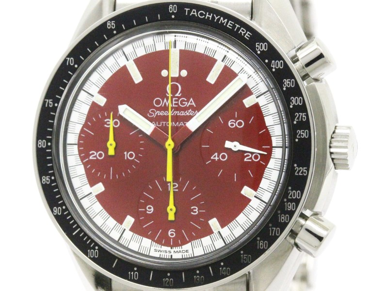 Omega Speedmaster 3510.61 Stainless Steel Red Dial 39mm Mens Watch