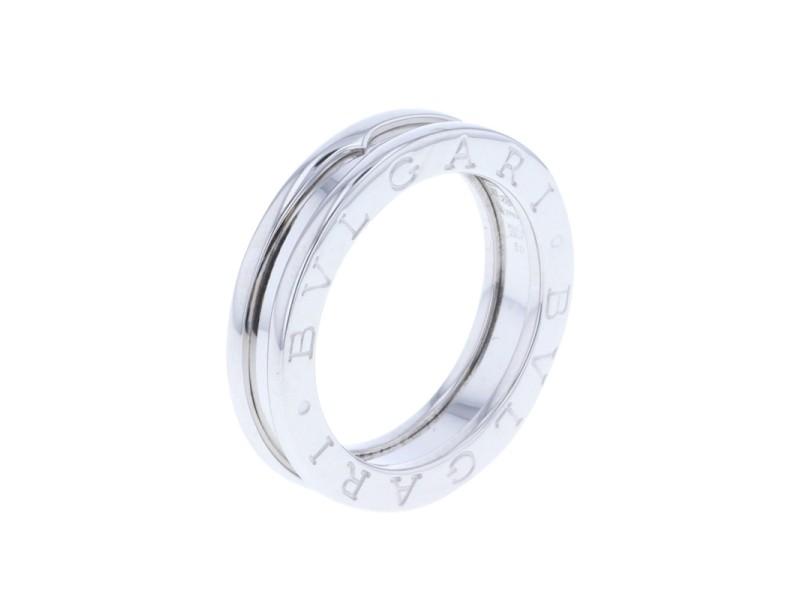 Bulgari B'Zero One 18K White Gold XS Band Ring Size 5.25