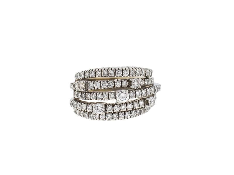 Damiani 18k White Gold 5 Row Diamond San Lorenz