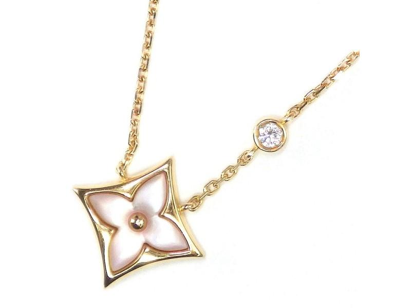 Louis Vuitton 18K Yellow Gold Diamond Necklace