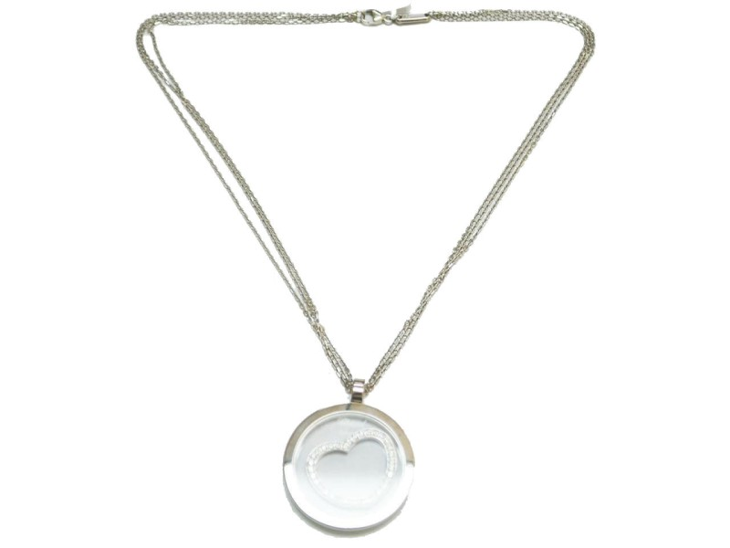 Chopard 18k 18K White Gold Diamond Pendant