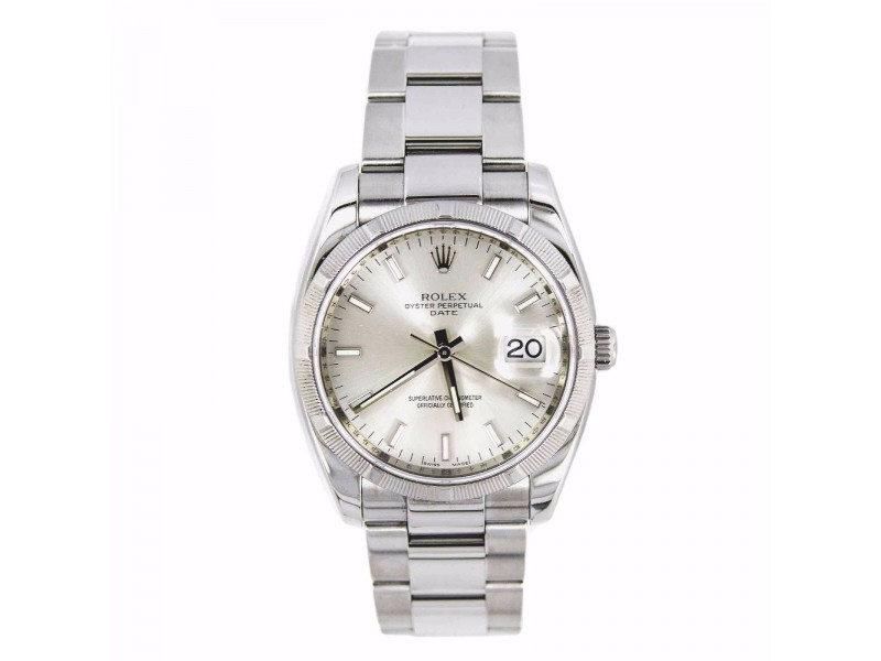 Rolex Date 115200 35mm Mens Watch