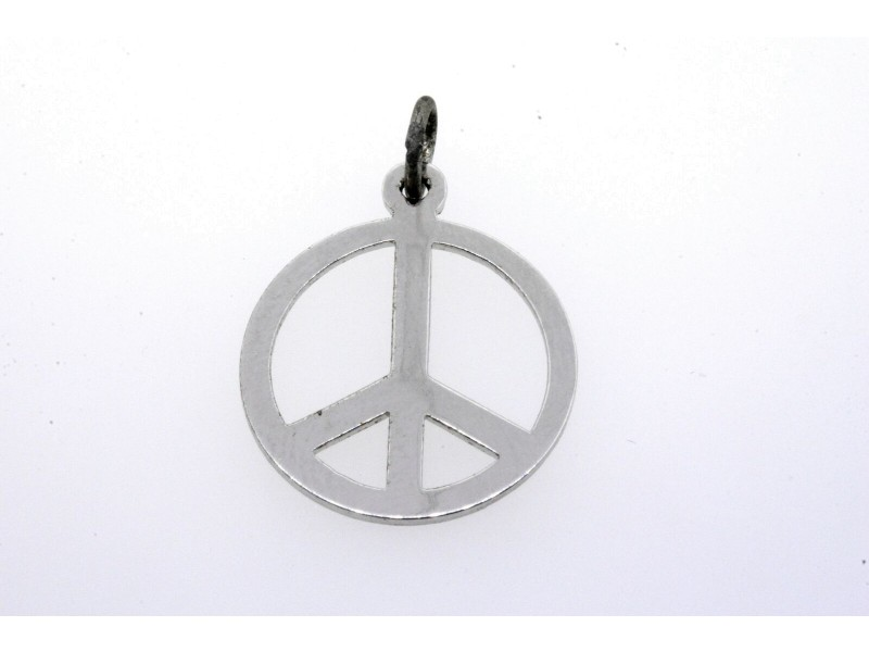 Vintage Sterling Silver Charm Peace Sign Symbol