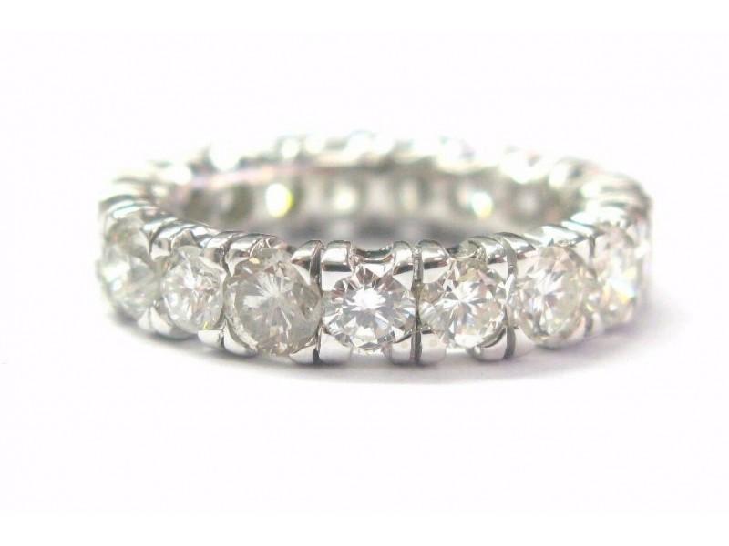 Fine Round Cut Diamond Eternity Band White Gold Ring 4.00Ct Size 6.25