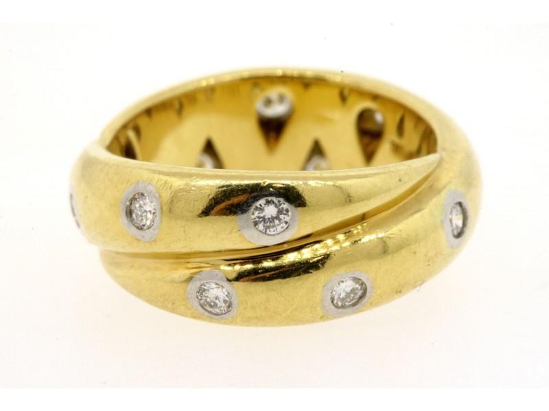 Tiffany & Co. Etoile Twist .30ct Diamond Ring Band 18k Gold Platinum size 4.5