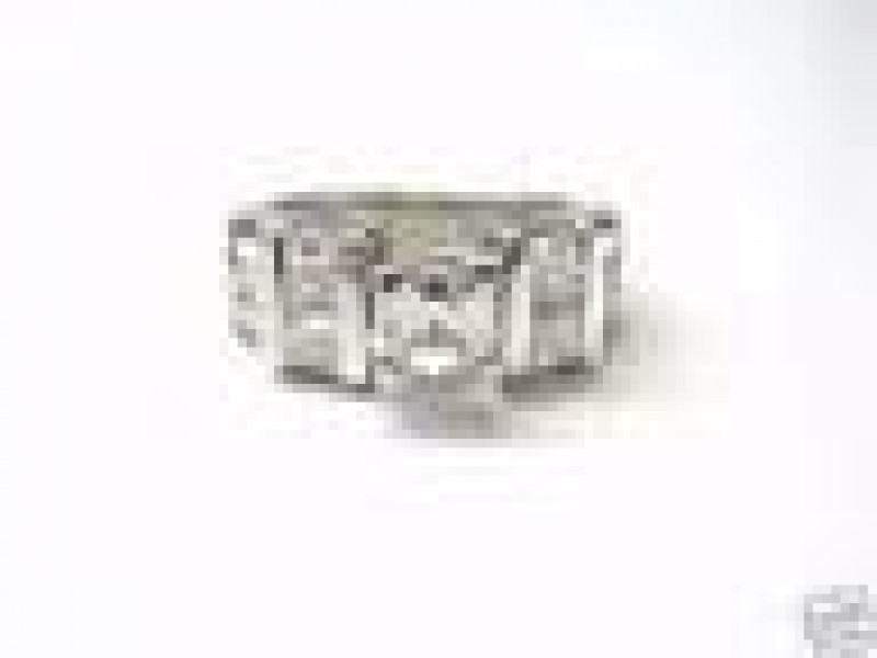 18KT Asscher Cut NATURAL Diamond Solitaire with Accents Engagement Ring 2.49Ct