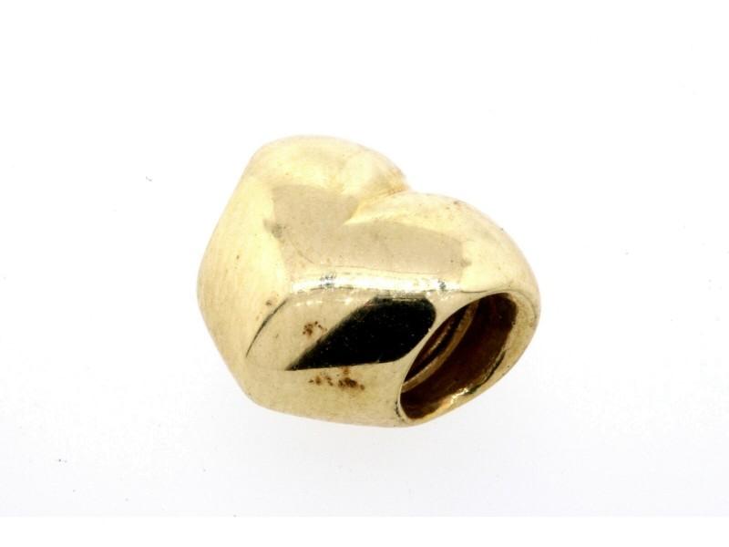 Pandora Charm ALE 14k Yellow Gold Smooth Puffy Heart Charm