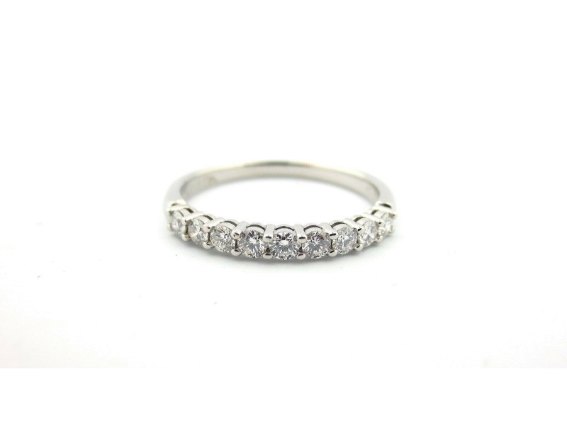 Tiffany & Co Embrace 2.2mm 0.27ct Round Diamond Platinum Eternity Wedding Band 9