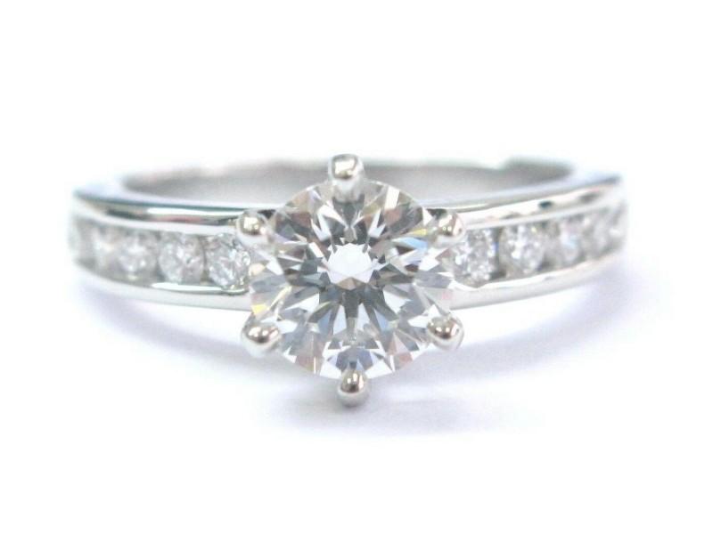 Tiffany & Co Platinum Diamond Channel Set Engagement Ring 1.23CT G-VS2