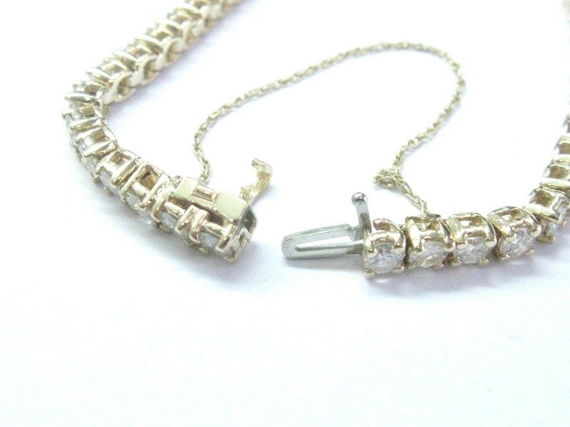 "Round Diamond Tennis Bracelet Solid 14Kt Yellow Gold I-J/SI2-I1 7"" 7.09Ct"
