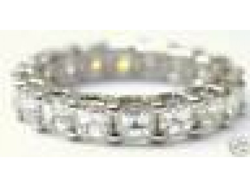 NATURAL Asscher Cut Diamond Eternity Ring 4.75Ct SOLID White Gold 14KT Size 8.5