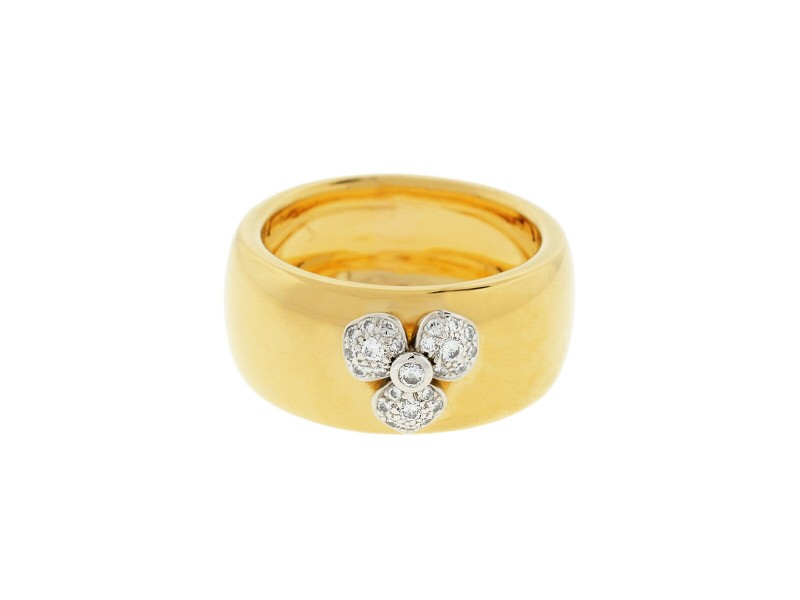 Tiffany & Co. 18k Yellow Gold Petals Collection Diamond Flower Ring