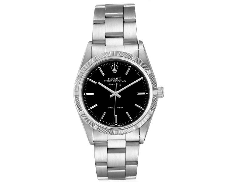 Rolex Air King 34 Black Dial Oyster Bracelet Steeel Mens Watch 14010