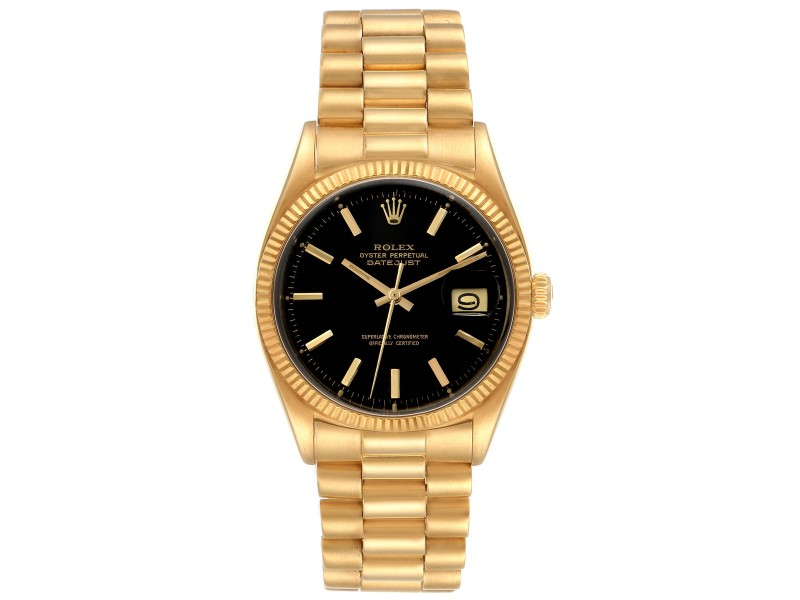 Rolex President Datejust 18k Yellow Gold Vintage Mens Watch 1601