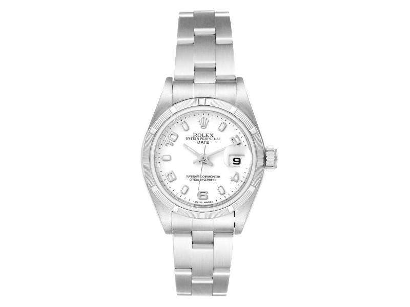 Rolex Date White Dial Oyster Bracelet Steel Ladies Watch 79190