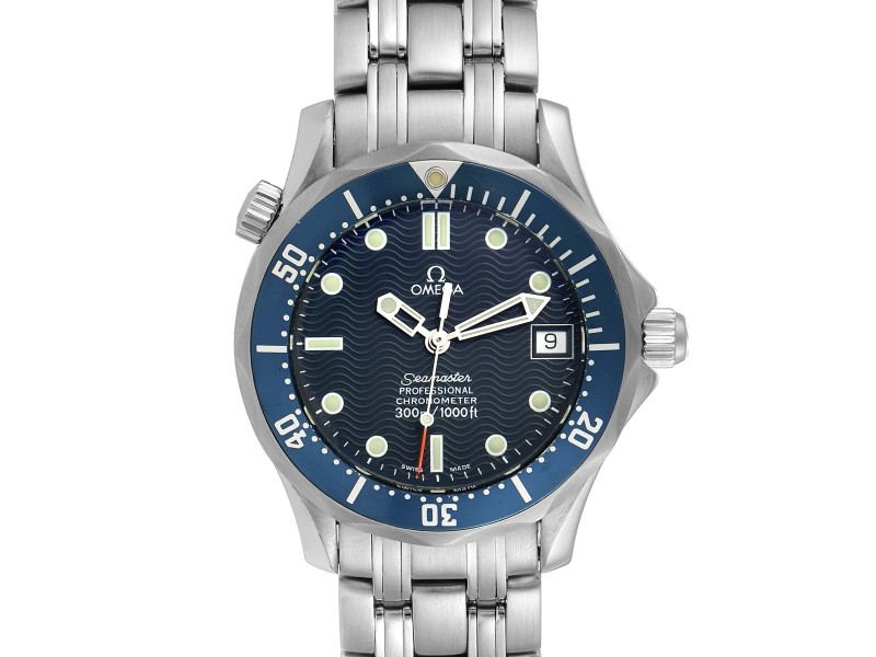 Omega Seamaster Midsize 36mm Blue Dial Steel Mens Watch 2551.80.00