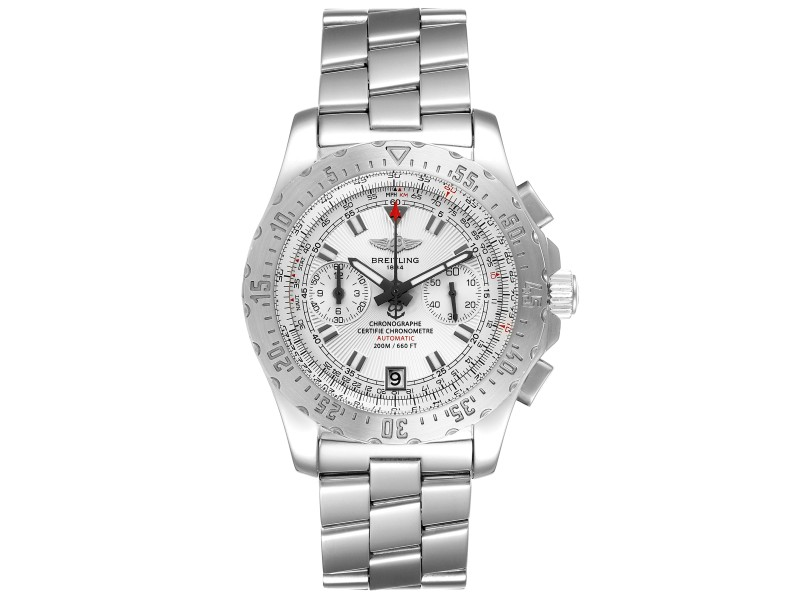 Breitling Professional Skyracer Silver Dial Steel Mens Watch A27362 Papers