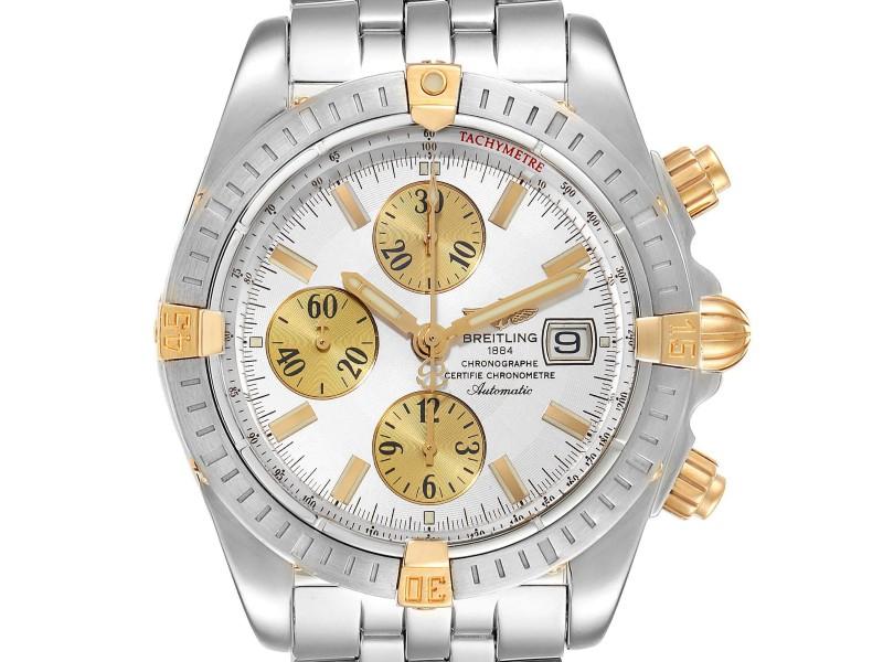 Breitling Chronomat Steel 18K Yellow Gold Mens Watch B13356