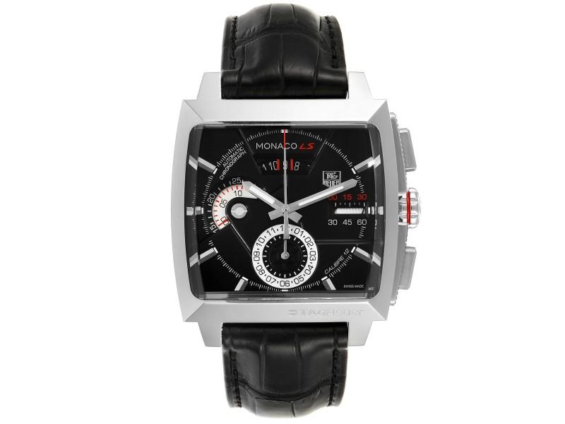Tag Heuer Monaco Black Dial Automatic Chronograph Mens Watch CAL2110