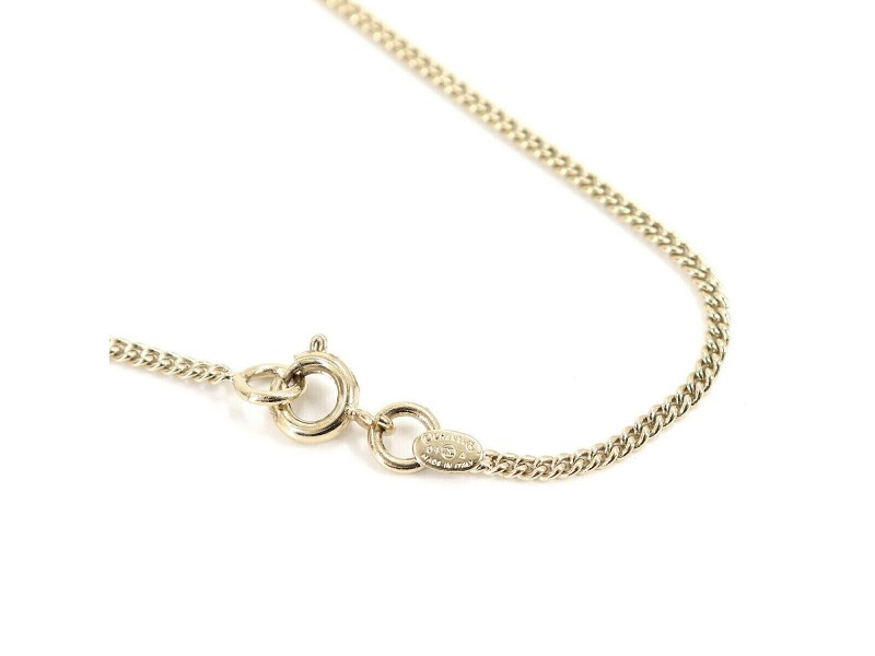 CHANEL Gold Lip Stick Rouge Necklace