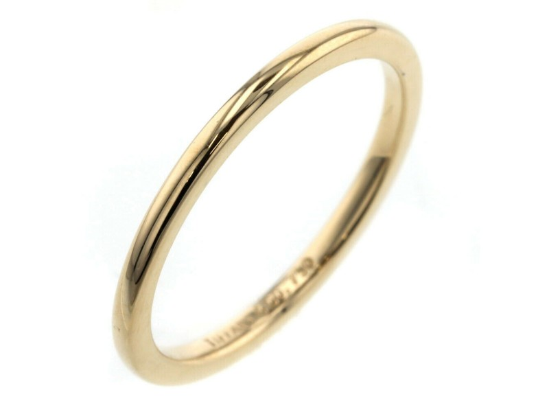 TIFFANY & Co. 18k yellow Gold Classic band Ring TBRK-601