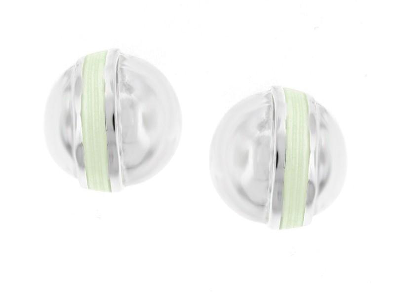 Tiffany & Co. Sterling Silver and Enamel Earrings