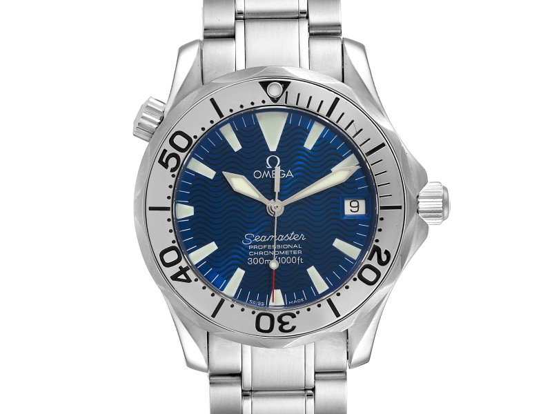 Omega Seamaster 300M Blue Dial Steel Mens Watch 2253.80.00