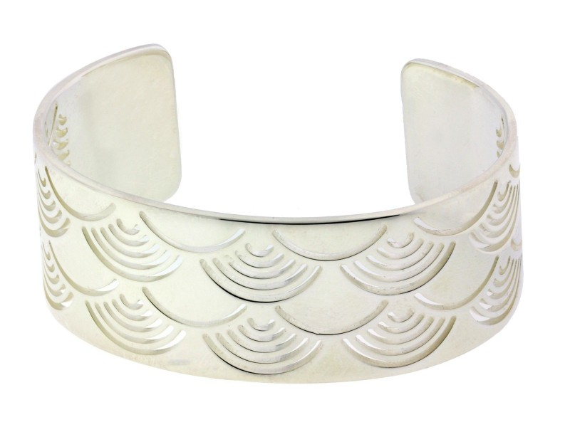 Enigma By Bulgari Sterling Silver Sun Bangle  Size Large