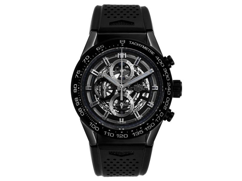 Tag Heuer Carrera Black Ceramic Chronograph Mens Watch CAR2A90