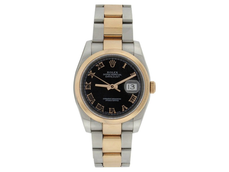 Rolex Datejust 116201 Oyster Stainless Steel & 18K Rose Gold Watch