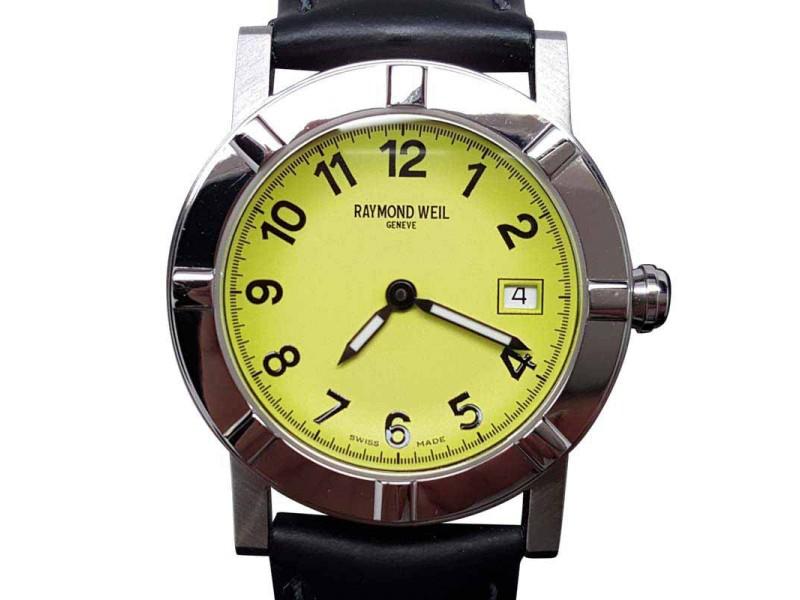 Raymond Weil W1 3030 Date Black/Lime Swiss Womens 30mm Watch