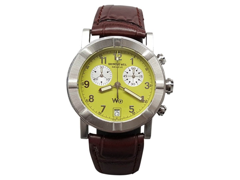 Raymond Weil W1 Parsifal Chronograph Date Lime Dial 35mm Mens Watch