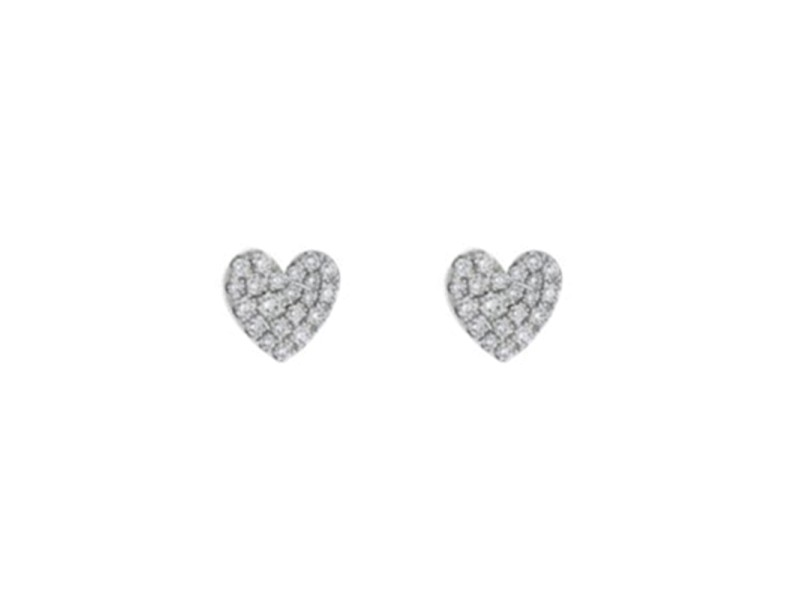 Tiffany & Co.Metro Heart 18K White Gold Earrings