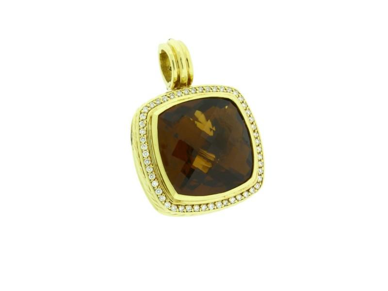 David Yurman 18K Yellow Gold Citrine Albion & Diamonds Pendant