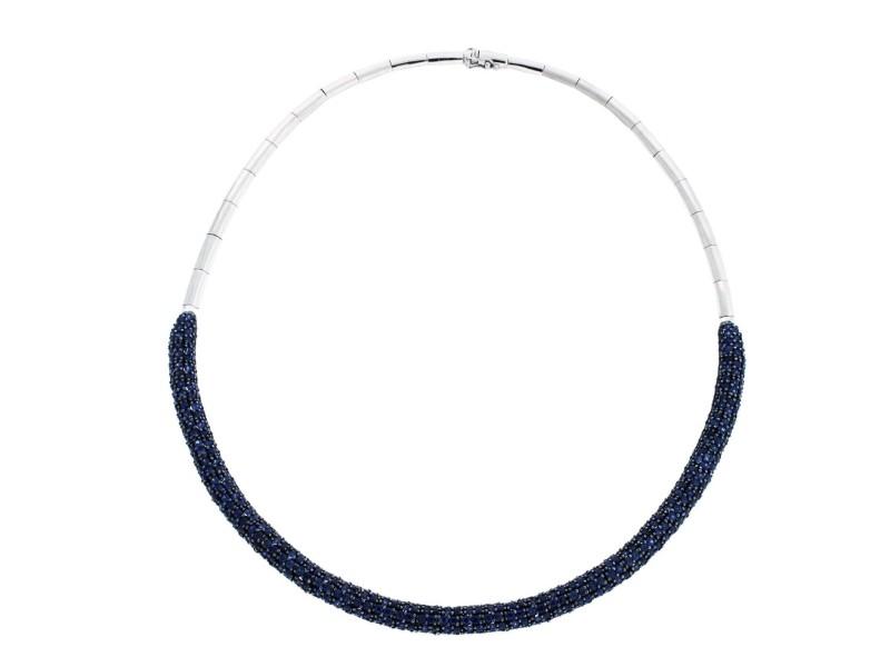 Effy 14K White Gold 14.07ct Sapphire Necklace
