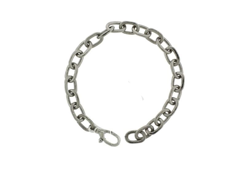 Gurhan 925 Sterling Silver & Palladium Oval Link Bracelet