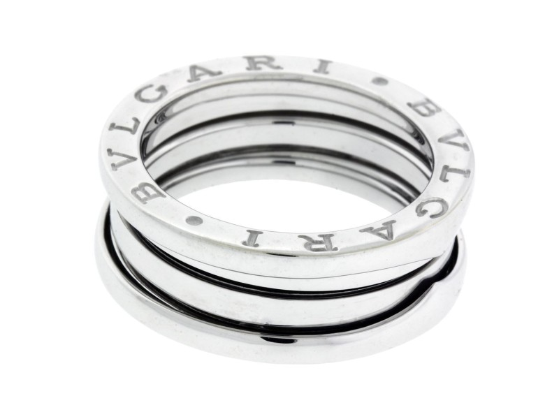 Bulgari B.Zero 1 18K White Gold 3 Band Ring Size 4.5
